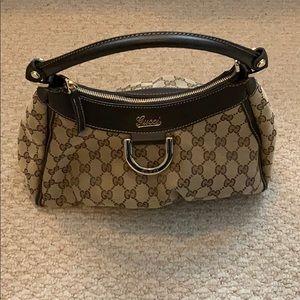 Gucci brown/tan hobo handbag
